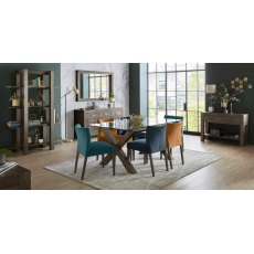 Turin Dark Oak Dining Set
