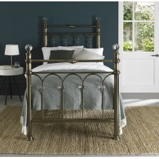 Krystal Antique Brass Bedstead Single 90cm