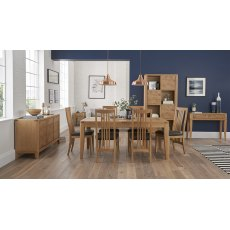 High Park Knotty Oak Dining Set - 6-8 Table & 6 Slat Back Chairs