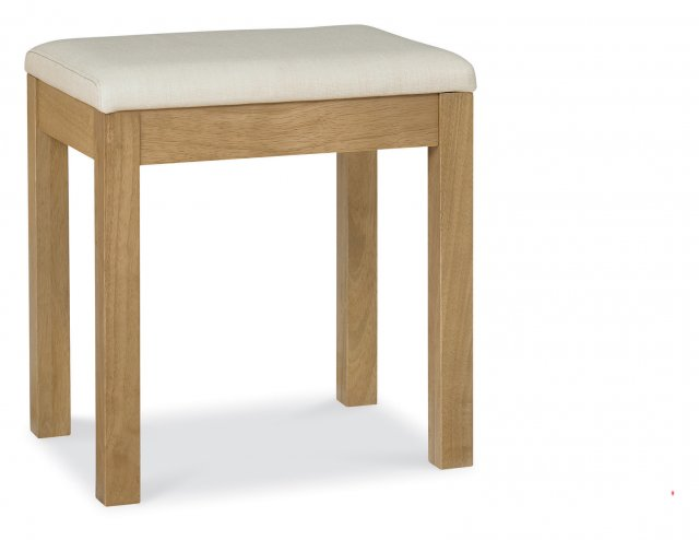 Gallery Collection Atlanta Oak Stool - Sand Fabric