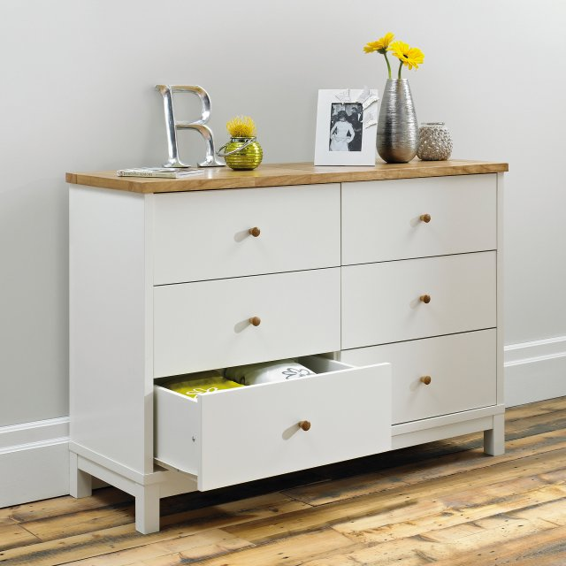 Gallery Collection Atlanta Two Tone 6 Drawer Wide Chest