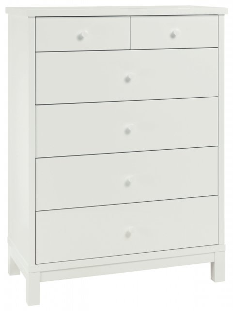 Gallery Collection Atlanta White 4+2 Drawer Chest