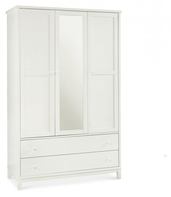 Gallery Collection Atlanta White Triple Wardrobe