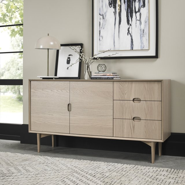 Gallery Collection Dansk Scandi Oak Wide Sideboard