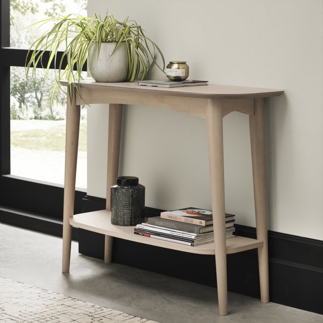 Gallery Collection Dansk Scandi Oak Console With Shelf