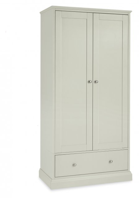 Premier Collection Ashby Soft Grey Double Wardrobe