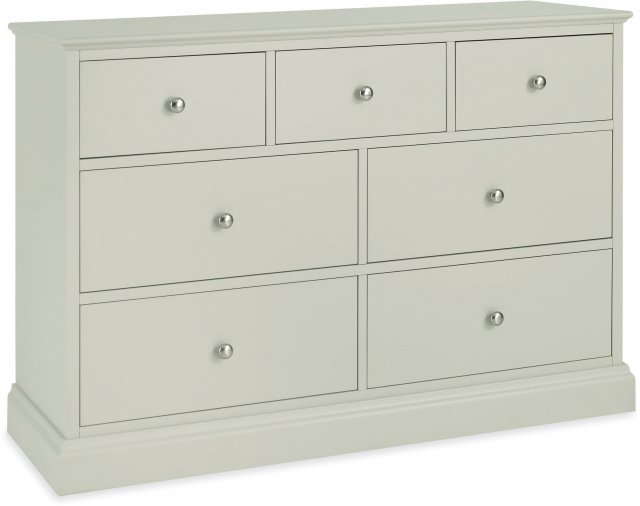 Premier Collection Ashby Soft Grey 3+4 Drawer Chest