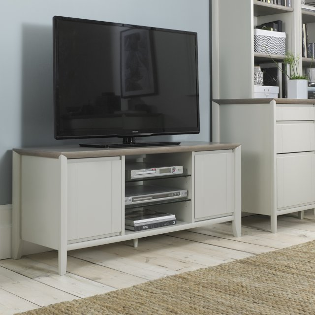 Premier Collection Bergen Grey Washed Oak & Soft Grey Entertainment Unit
