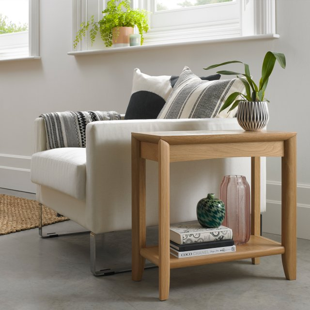 Premier Collection Bergen Oak Side Table