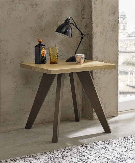 Premier Collection Cadell Aged Oak Lamp Table