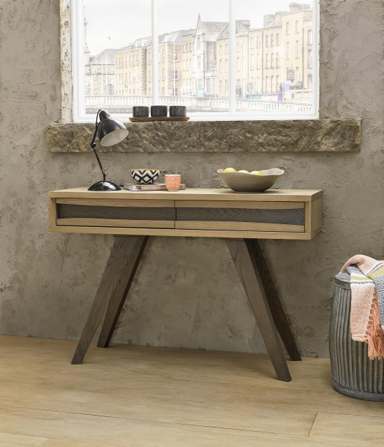 Premier Collection Cadell Aged Oak Console Table With Drawers