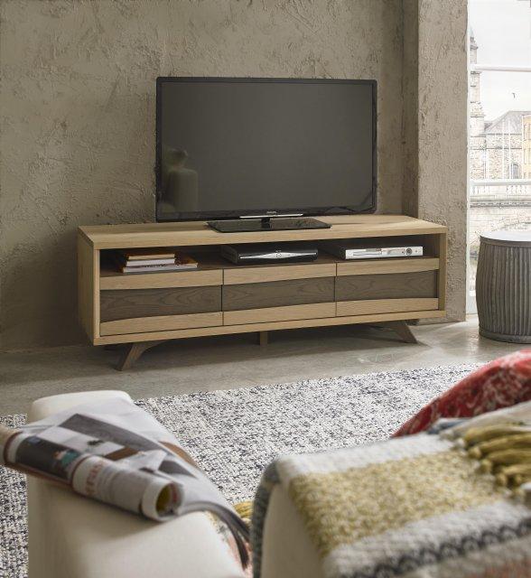 Premier Collection Cadell Aged Oak Entertainment Unit