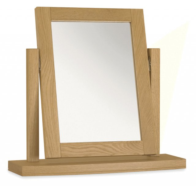 Premier Collection Hampstead Oak Vanity Mirror