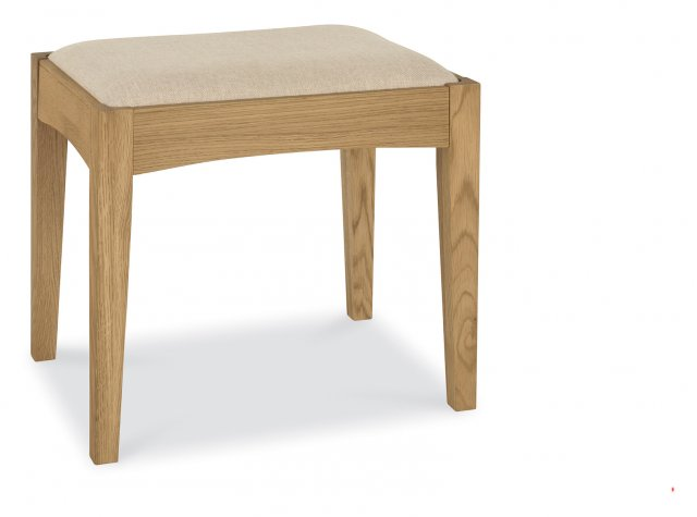 Premier Collection Hampstead Oak Stool - Sand Fabric