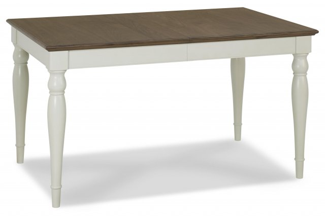 Premier Collection Hampstead Soft Grey & Walnut 6-8 Extension Table - Rectangular