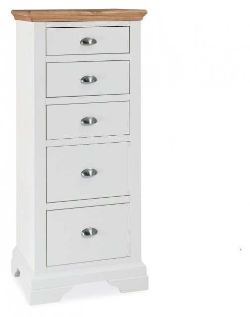 Premier Collection Hampstead Two Tone 5 Drawer Tall Chest