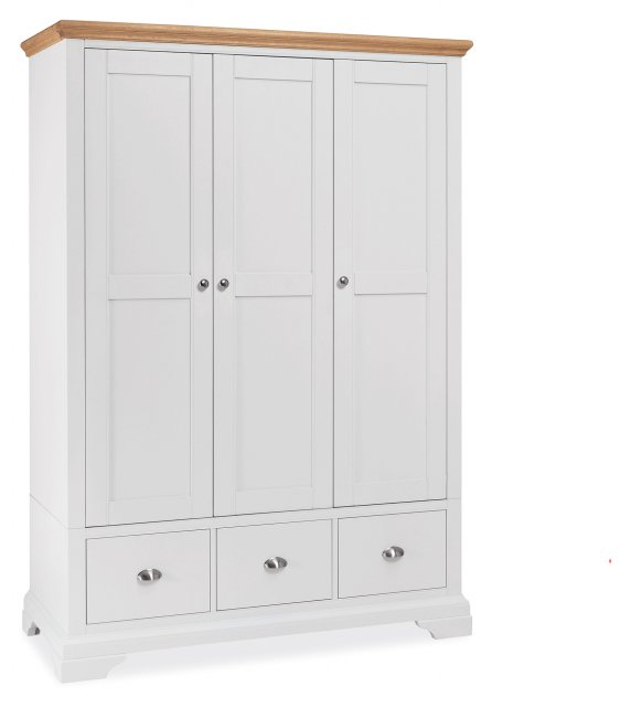 Premier Collection Hampstead Two Tone Triple Wardrobe