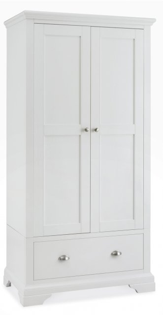 Premier Collection Hampstead White Double Wardrobe