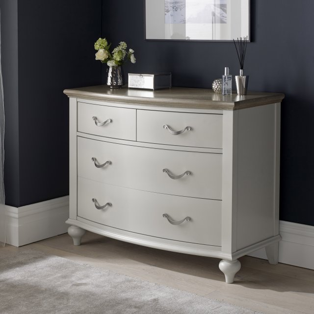 Premier Collection Montreux Grey Washed Oak & Soft Grey 2+2 Drawer Chest