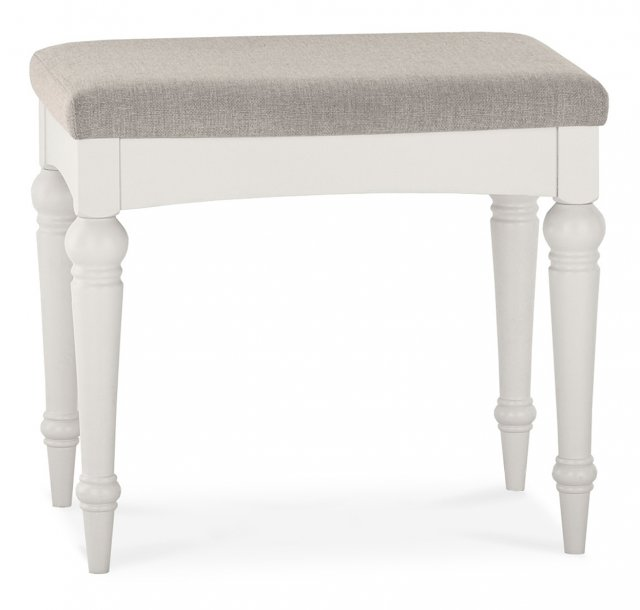 Premier Collection Montreux Soft Grey Stool - Pebble Grey Fabric