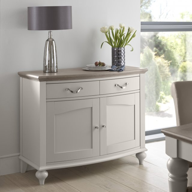Premier Collection Montreux Grey Washed Oak & Soft Grey Narrow Sideboard