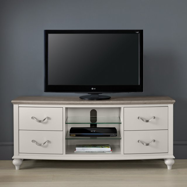 Premier Collection Montreux Grey Washed Oak & Soft Grey Entertainment Unit