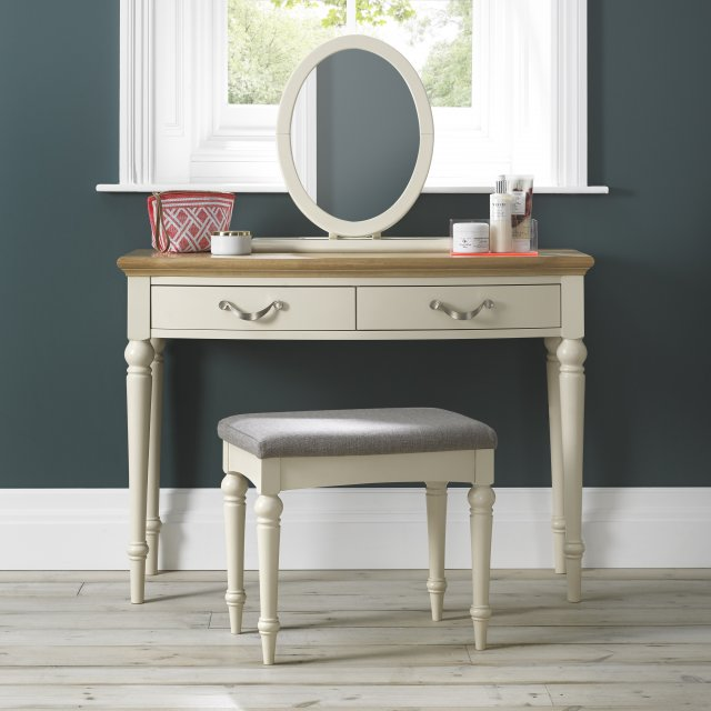 Premier Collection Montreux Pale Oak & Antique White Dressing Table
