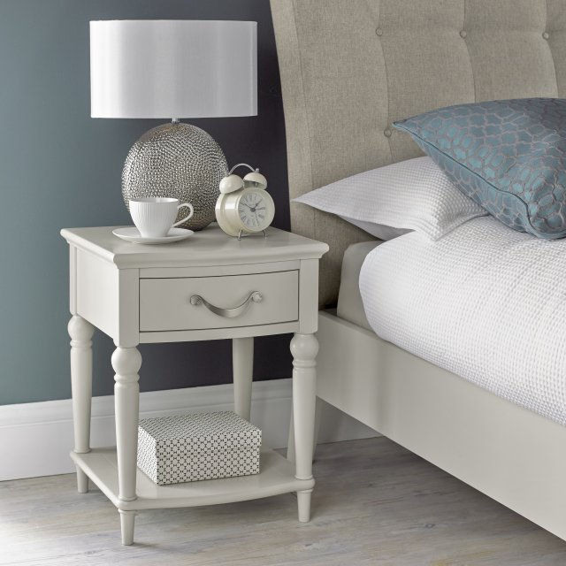Premier Collection Montreux Soft Grey 1 Drawer Nightstand