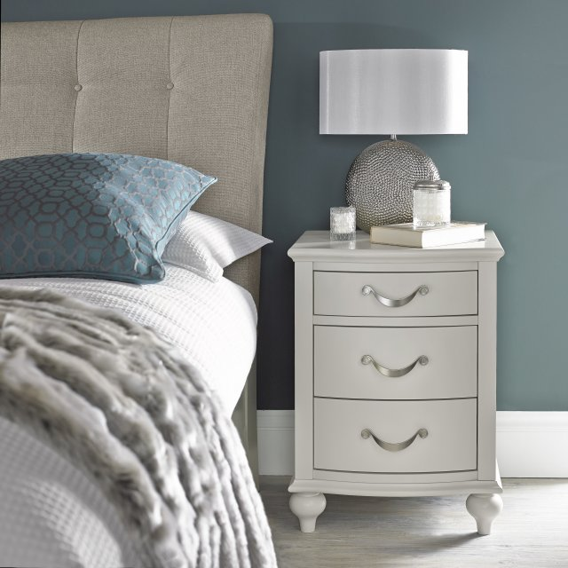 Premier Collection Montreux Soft Grey 3 Drawer Nightstand