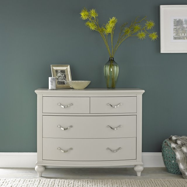 Premier Collection Montreux Soft Grey 2+2 Drawer Chest