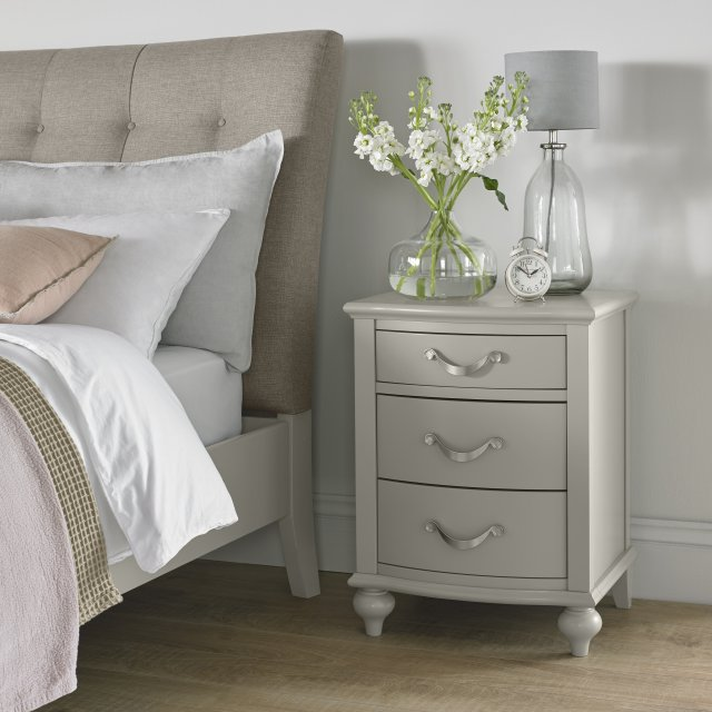 Premier Collection Montreux Urban Grey 3 Drawer Nightstand