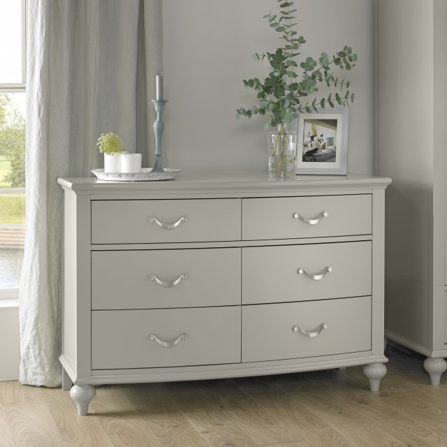 Premier Collection Montreux Urban Grey 6 Drawer Wide Chest
