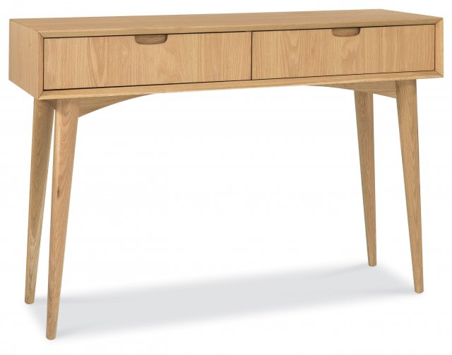 Premier Collection Oslo Oak Console Table With Drawer