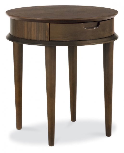 Premier Collection Oslo Walnut Lamp Table With Drawer