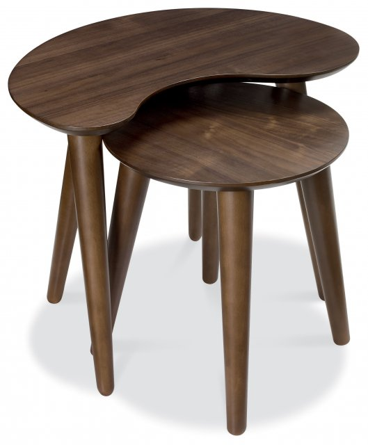 Premier Collection Oslo Walnut Nest Of Lamp Tables