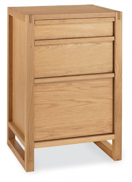 Premier Collection Studio Oak Filing Cabinet