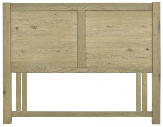 Premier Collection Turin Aged Oak Panel Headboard King 150cm