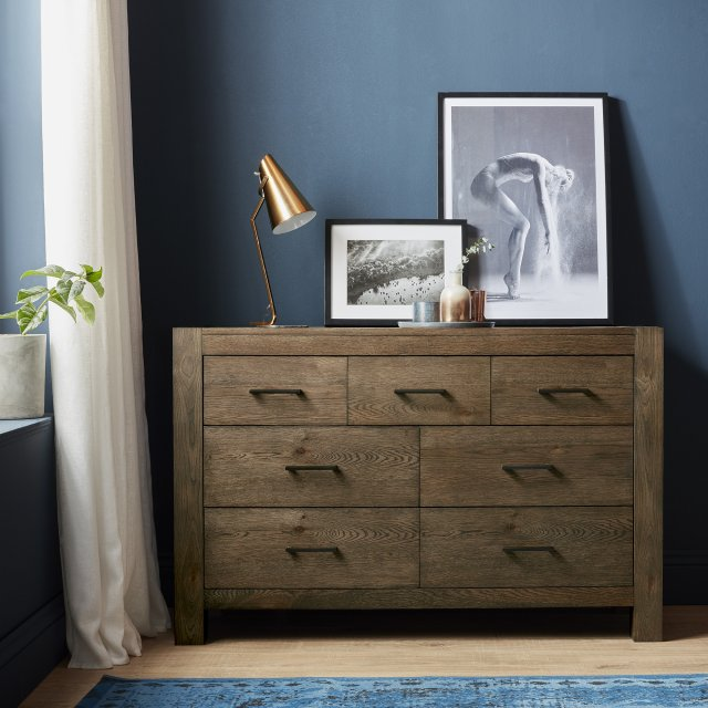 Premier Collection Turin Dark Oak 4+3 Drawer Chest