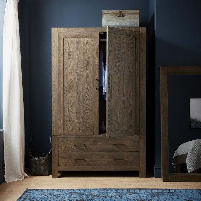 Premier Collection Turin Dark Oak Large Double Wardrobe