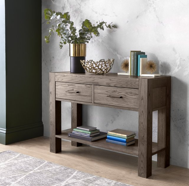 Premier Collection Turin Dark Oak Console Table