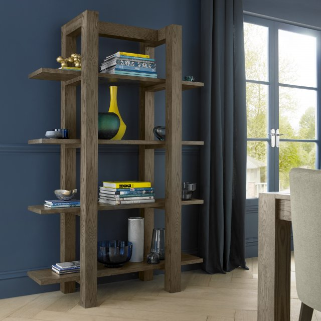 Premier Collection Turin Dark Oak Open Shelf Unit