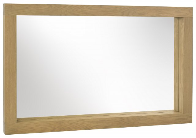 Premier Collection Turin Light Oak Landscape Mirror
