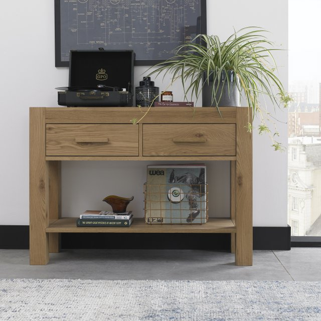 Premier Collection Turin Light Oak Console Unit