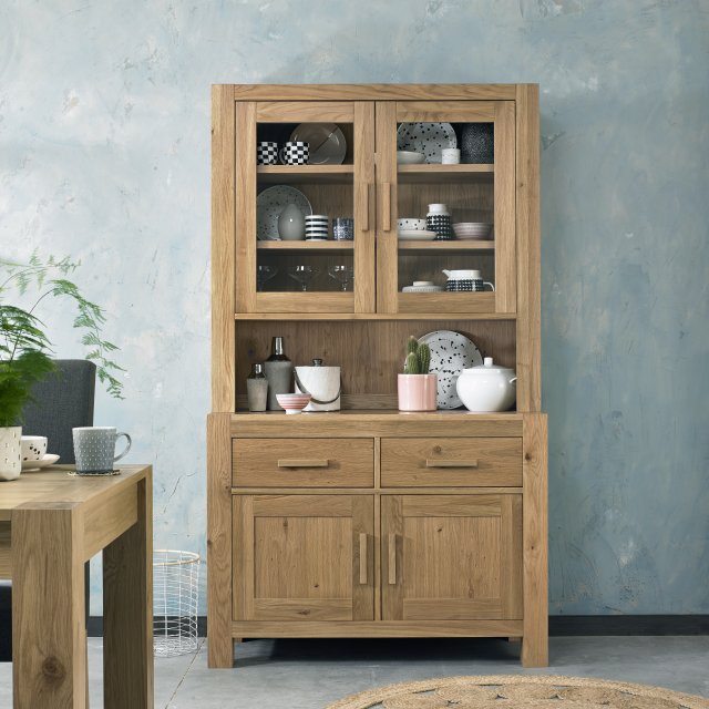 Premier Collection Turin Light Oak Display Unit