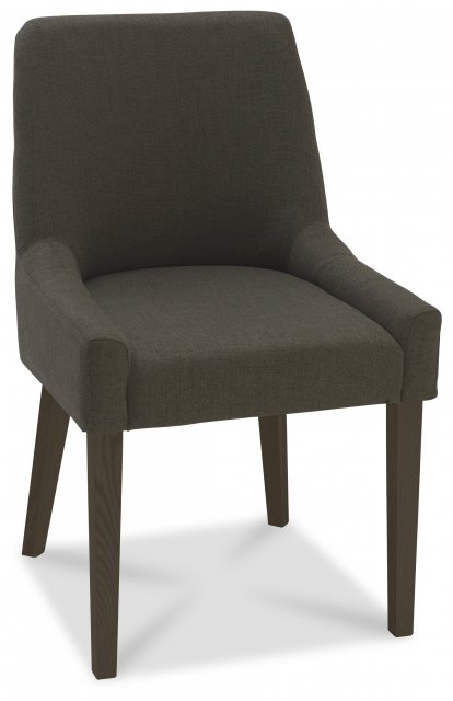 Premier Collection Ella Walnut Scoop Back Chair - Black Gold Fabric  (Pair)