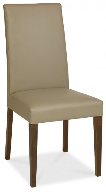 Premier Collection Miles Walnut Taper Back Chair - Olive Bonded Leather (Pair)