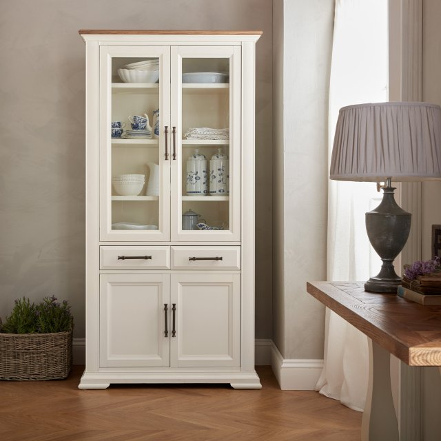 Signature Collection Belgrave Two Tone Display Cabinet