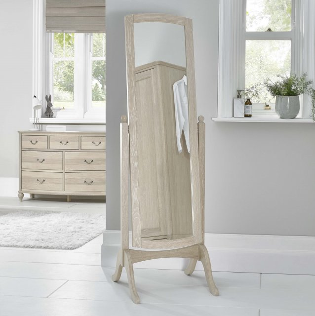 Signature Collection Bordeaux Chalk Oak Cheval Mirror