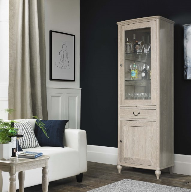 Signature Collection Bordeaux Chalk Oak Drinks Cabinet