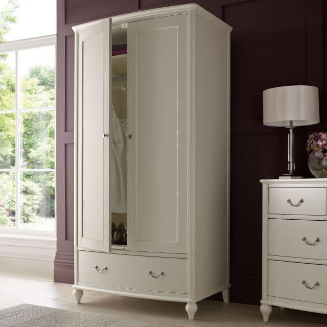 Signature Collection Bordeaux Ivory Double Wardrobe